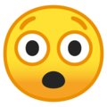 Astonished Face on Google Android 9.0