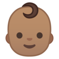Baby: Medium Skin Tone on Google Android 9.0