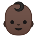 Baby: Dark Skin Tone on Google Android 9.0