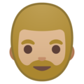 Bearded Person: Medium-Light Skin Tone on Google Android 9.0