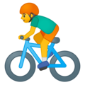 Person Biking on Google Android 9.0