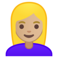 Blond-Haired Woman: Medium-Light Skin Tone on Google Android 9.0