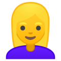 Blond-Haired Woman on Google Android 9.0