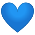 Blue Heart on Google Android 9.0