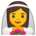 Bride With Veil on Google Android 9.0