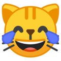 Cat Face With Tears of Joy on Google Android 9.0