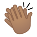 Clapping Hands: Medium Skin Tone on Google Android 9.0