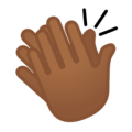 Clapping Hands: Medium-Dark Skin Tone on Google Android 9.0
