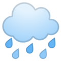 Cloud With Rain on Google Android 9.0