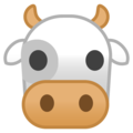 Cow Face on Google Android 9.0