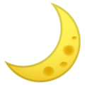 Crescent Moon on Google Android 9.0