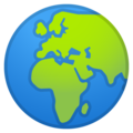 Globe Showing Europe-Africa on Google Android 9.0