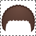Emoji Component Curly Hair on Google Android 9.0