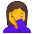 Person Facepalming on Google Android 9.0