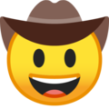 Cowboy Hat Face on Google Android 9.0