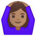 Person Gesturing OK: Medium Skin Tone on Google Android 9.0