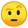 Face With Raised Eyebrow on Google Android 9.0