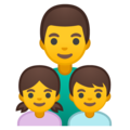 Family: Man, Girl, Boy on Google Android 9.0