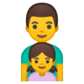 Family: Man, Girl on Google Android 9.0