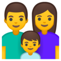 Family: Man, Woman, Boy on Google Android 9.0
