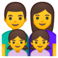 Family: Man, Woman, Girl, Girl on Google Android 9.0