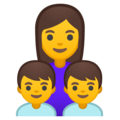 Family: Woman, Boy, Boy on Google Android 9.0