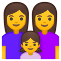 Family: Woman, Woman, Girl on Google Android 9.0