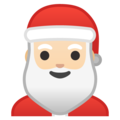 Santa Claus: Light Skin Tone on Google Android 9.0