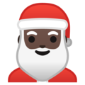 Santa Claus: Dark Skin Tone on Google Android 9.0