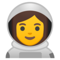 Woman Astronaut on Google Android 9.0