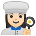 Woman Cook: Light Skin Tone on Google Android 9.0