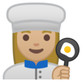 Woman Cook: Medium-Light Skin Tone on Google Android 9.0