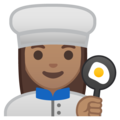 Woman Cook: Medium Skin Tone on Google Android 9.0