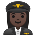 Woman Pilot: Dark Skin Tone on Google Android 9.0