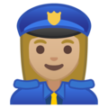 Woman Police Officer: Medium-Light Skin Tone on Google Android 9.0