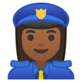 Woman Police Officer: Medium-Dark Skin Tone on Google Android 9.0