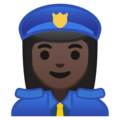 Woman Police Officer: Dark Skin Tone on Google Android 9.0