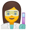 Woman Scientist on Google Android 9.0