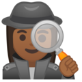 Woman Detective: Medium-Dark Skin Tone on Google Android 9.0
