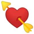 Heart With Arrow on Google Android 9.0