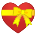 Heart With Ribbon on Google Android 9.0