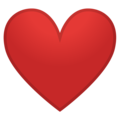 Red Heart on Google Android 9.0