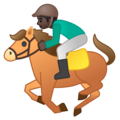 Horse Racing: Dark Skin Tone on Google Android 9.0