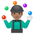 Person Juggling: Medium Skin Tone on Google Android 9.0