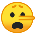 Lying Face on Google Android 9.0