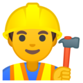 Man Construction Worker on Google Android 9.0