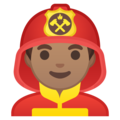 Man Firefighter: Medium Skin Tone on Google Android 9.0