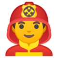 Man Firefighter on Google Android 9.0