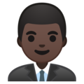 Man Office Worker: Dark Skin Tone on Google Android 9.0
