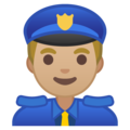 Man Police Officer: Medium-Light Skin Tone on Google Android 9.0